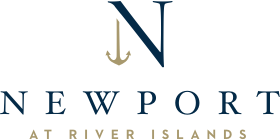 Logo for the Newport at River Islands community